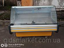 Витрина холодильная Cold 1,6 м. бу., гастрономический прилавок бу.