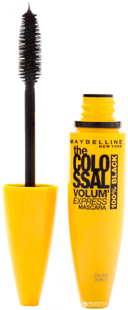 Тушь для ресниц Maybelline Volume Express Colossal 100% Black