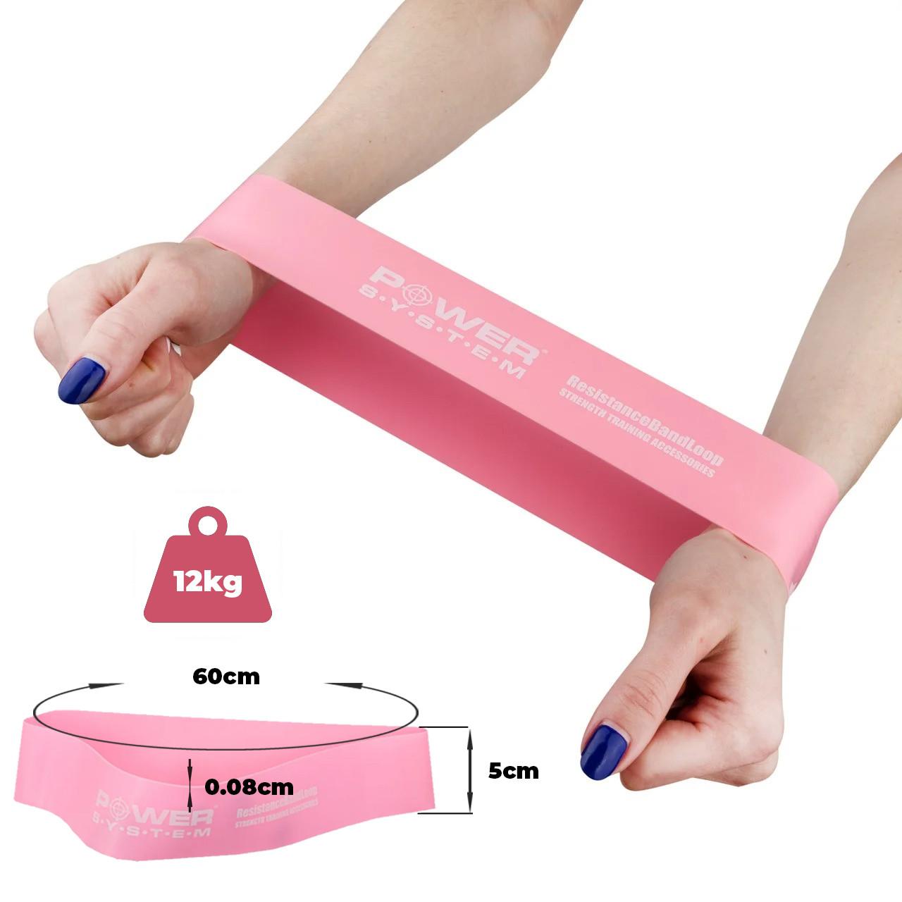 Замкнутая лента-эспандер Power System  PS-4061 Flex Loop Pink (сопротивление 12 кг)