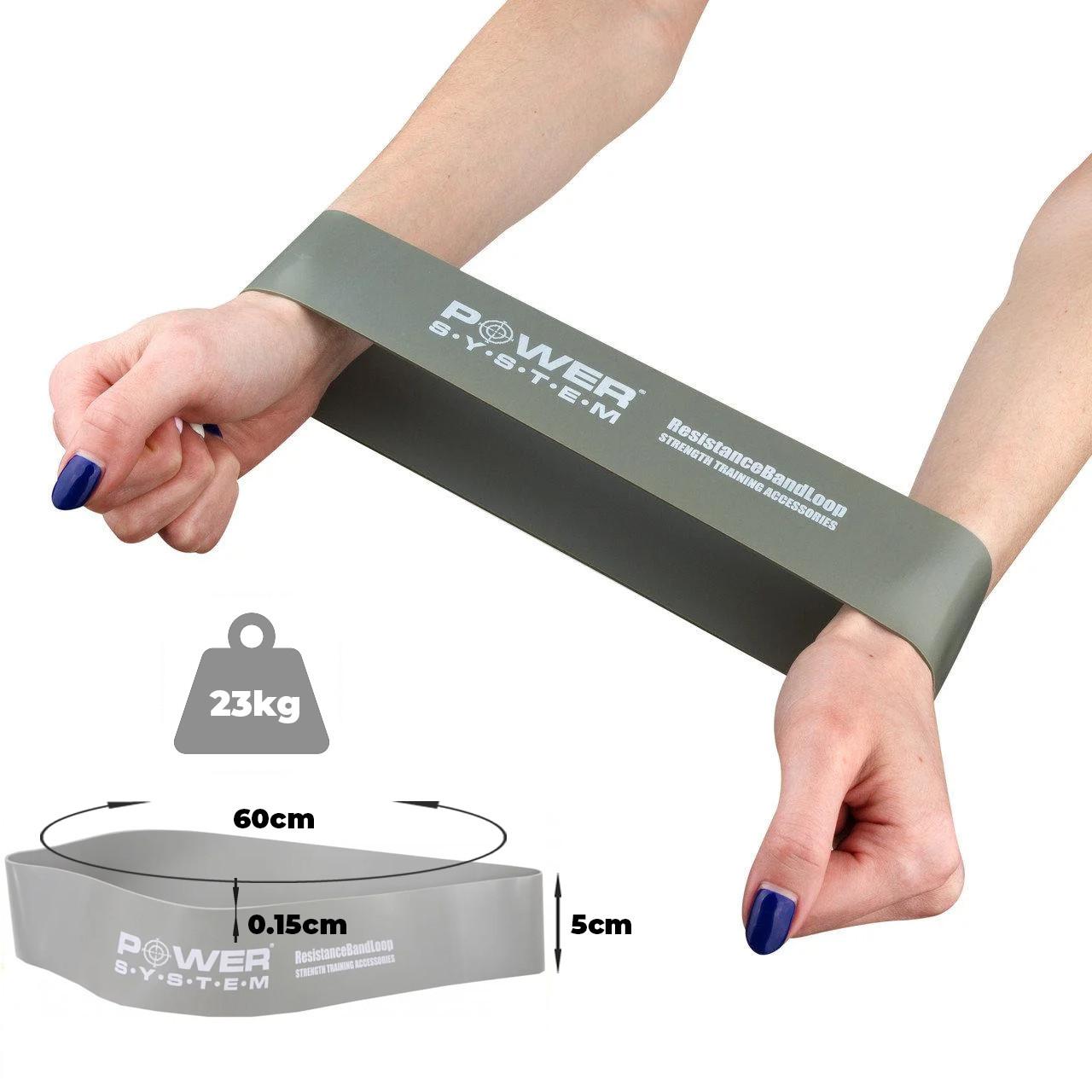 Замкнутая лента-эспандер Power System PS-4063 Flex Loop Grey (сопротивление 23 кг)
