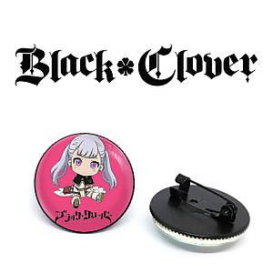 "Значок Черный клевер ""On a pink background"" / Black Clover"