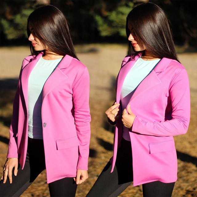Женский классический пиджак в ярких цветах