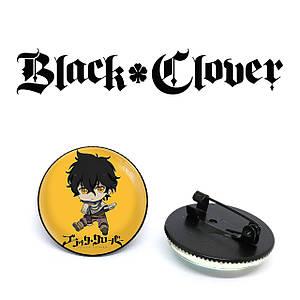 "Значок Черный клевер ""On a yellow background"" / Black Clover"