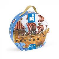 Пазл-підлоговий Janod Корабель піратів J02819, 599