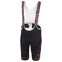 Велошорты с лямками Ghost Factory Racing Bip, M, черно-красно-белые (ST)