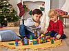 Сортер деревянный конструктор Play tive разноцветный город 50 элементов в ведерке, фото 2