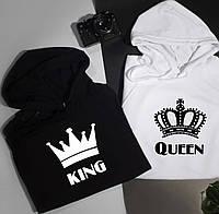 Парные толстовки для влюбленных KING & QUEEN