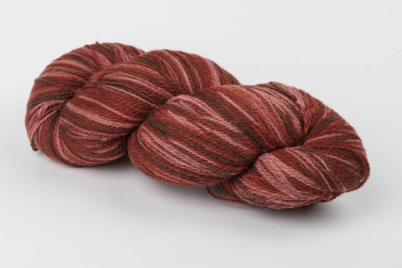 Пряжа Aade Long Kauni, Artistic yarn 8/2 Brown Pink (Коричнево-Рожевий), 252 г