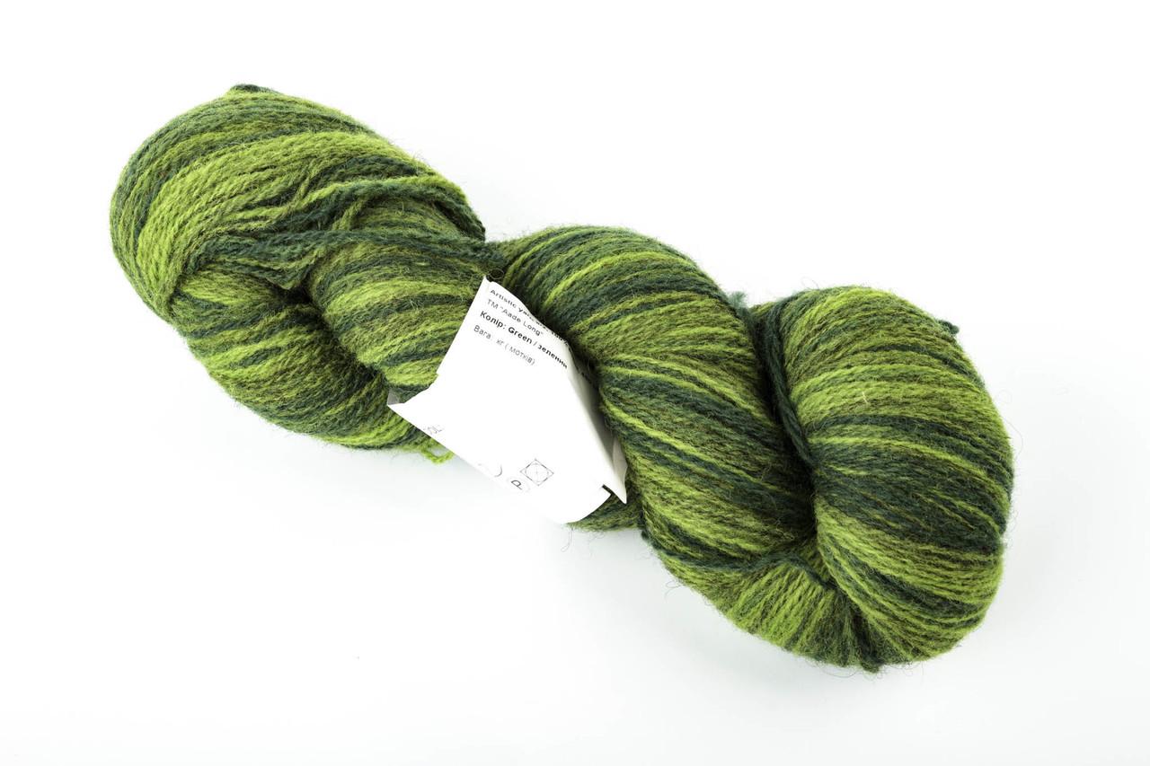 Пряжа Aade Long Kauni, Artistic yarn 8/2 Green (Зеленый), 200 г