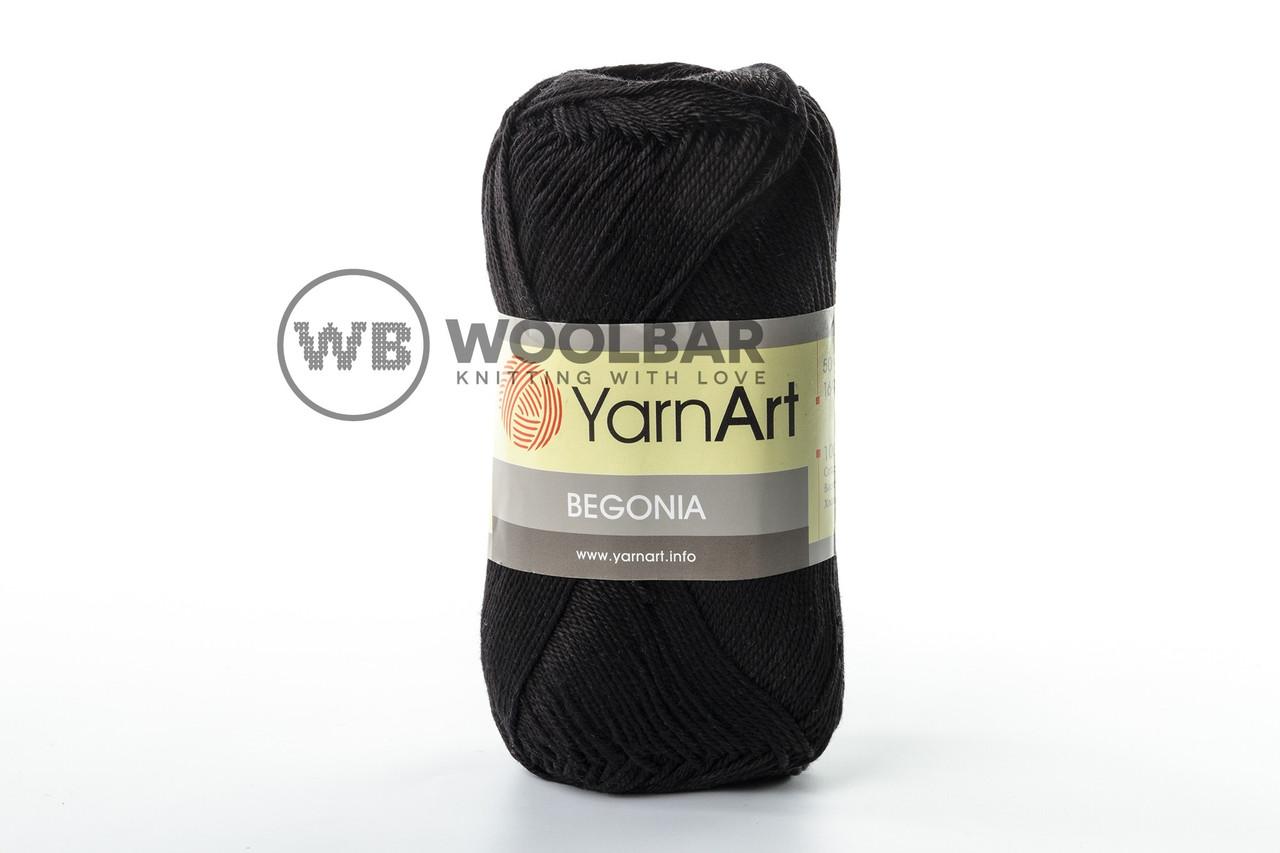 Пряжа YarnArt Begonia 999 черный