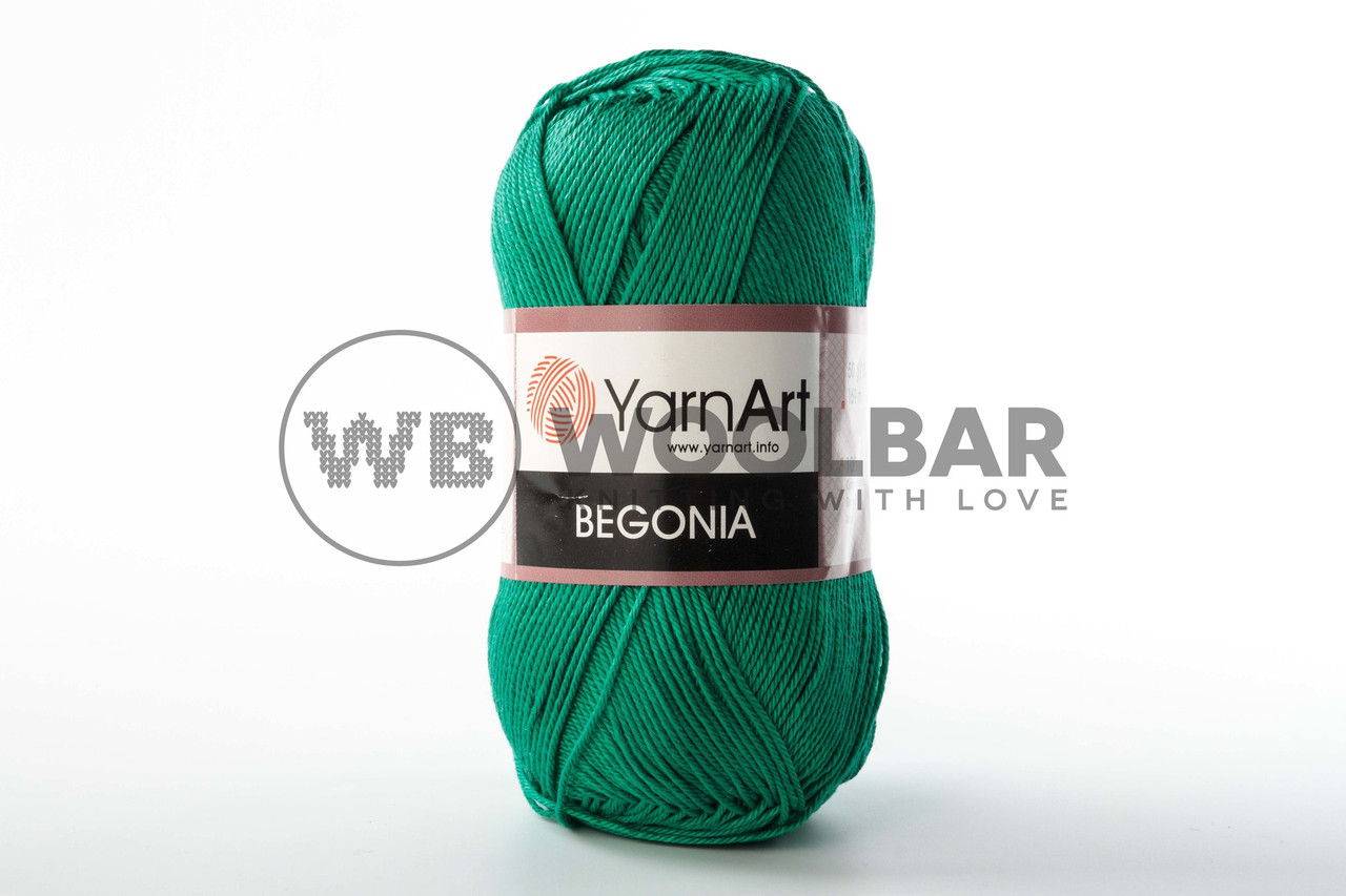Пряжа YarnArt Begonia 6334 изумруд
