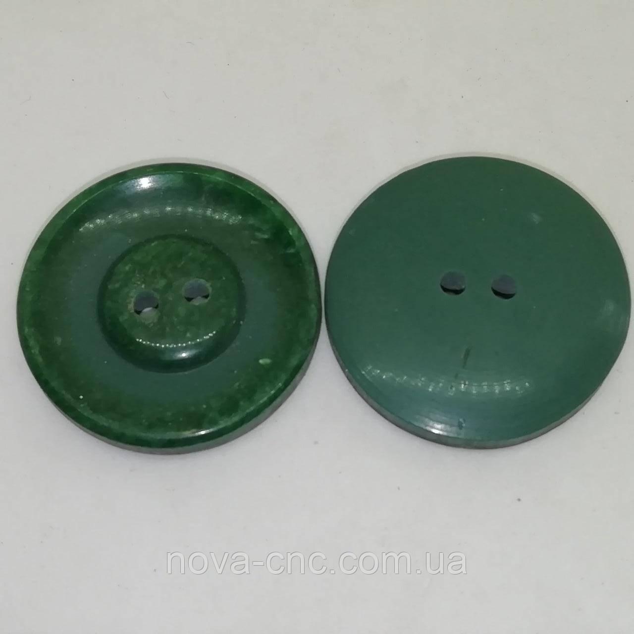 Пуговица пластмассовая 28 мм Цвет зеленый Упаковка 400 штук