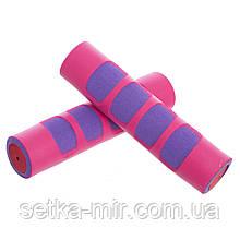 Гантели для фитнеса в неопреновой оболочке Zelart (2шт x 0,5кг) Розовый-Фиолетовый