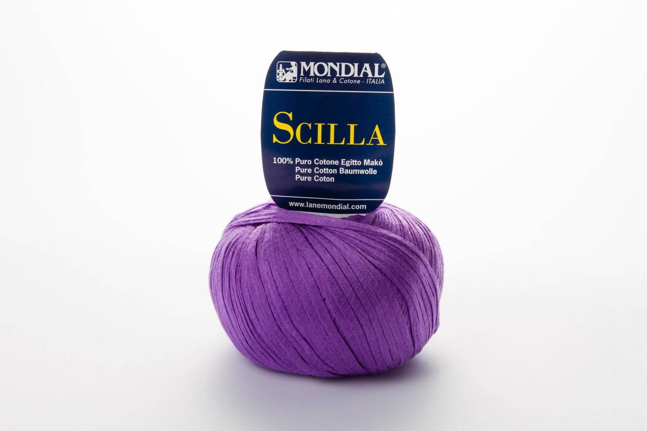 Пряжа Mondial Scilla 0312 яскрава бузок