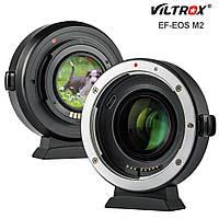Адаптер автофокусный Viltrox EF-EOS M2 Speed Booster для Canon EF, EF-S на байонет Canon EOS M (EF-EOS M)