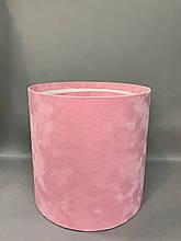 Большая высокая б/к БАРХАТ (розовый)