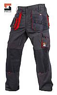 Брюки защитные рабочие SteelUZ Темно-серый с красной отделкой, 40, фото 1