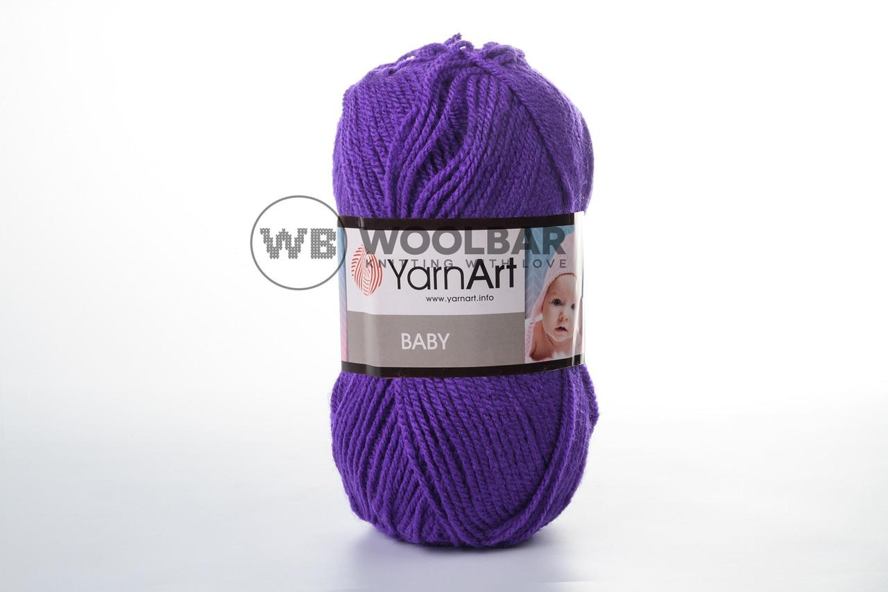 Пряжа YarnArt Baby 203 ярко-фиолетовый