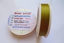 Spark Beads Нить для бисера Tytan 100, длина 100 м 2513 золотисто-оливковый
