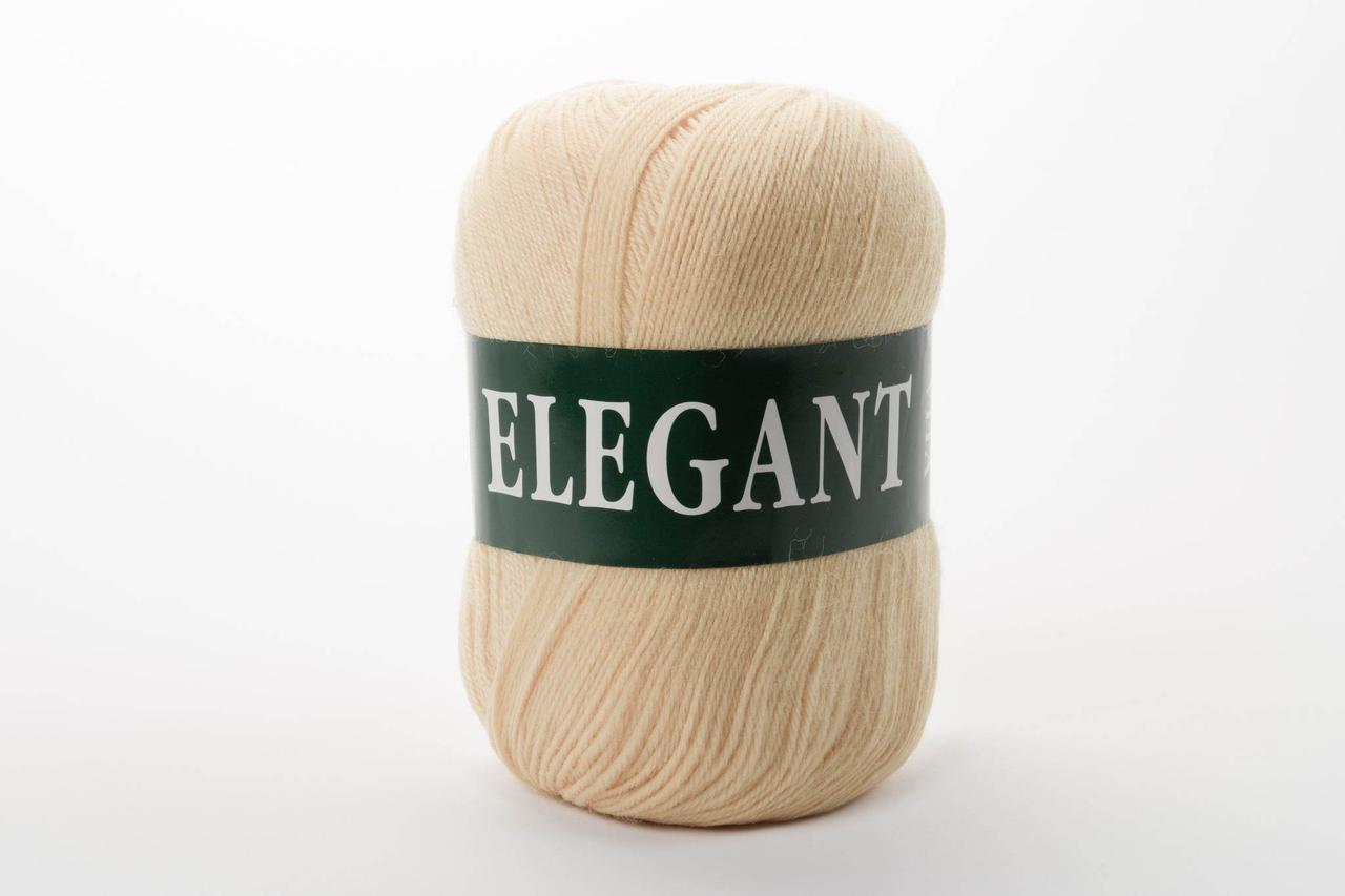 Пряжа полушерстяная Vita Elegant, Color No.2053 жёлтый