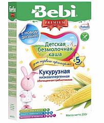 Безмолочна каша Кукурудзяна низкоаллергенная Bebi Premium (Бебі Преміум) з 5 місяців , 200 г