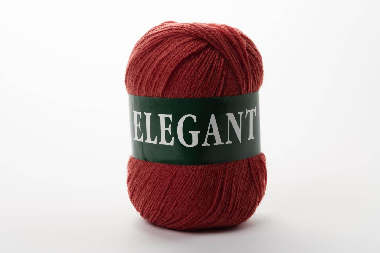 Напівшерстяна Пряжа Vita Elegant, Color No.2071 теракот