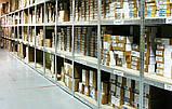 Стеллажи полочные БУ, паллетные стеллажи БУ, полочный оцинкованный стеллаж для склада офиса гаража, фото 3