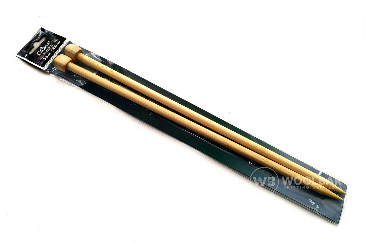 Clover - Спицы прямые с удлиненным кон. Takumi 35 см, 9 мм