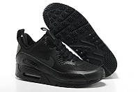 """Кроссовки мужские Nike Air Max 90 Winter Sneakerboot """"Black Reflective"""" (в стиле найк аир макс) черные"""