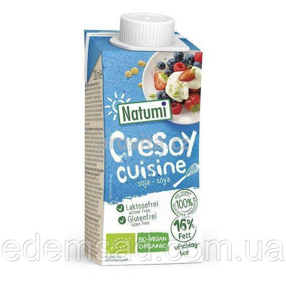 Крем-сметана соєве без глютену і лактози Natumi, 200мл