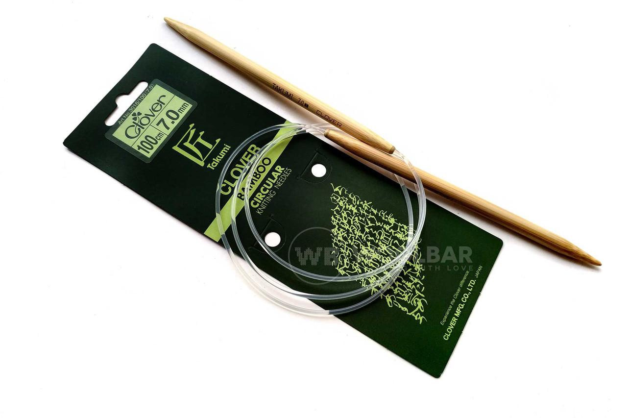 Clover - Спицы бамбуковые Takumi 100 см, 7 мм