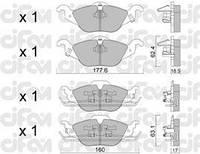Колодки тормозные OPEL ASTRA G передние (Cifam). 822-257-0
