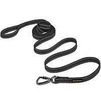 Повідець BronzeDog Cotton рефлекторний брезент для середніх порід собак M(1) - 2м*2см