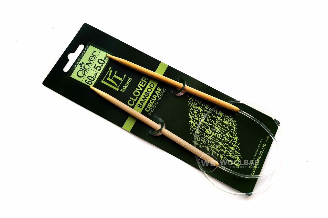 Clover - Спицы бамбуковые Takumi 60 см, 5 мм