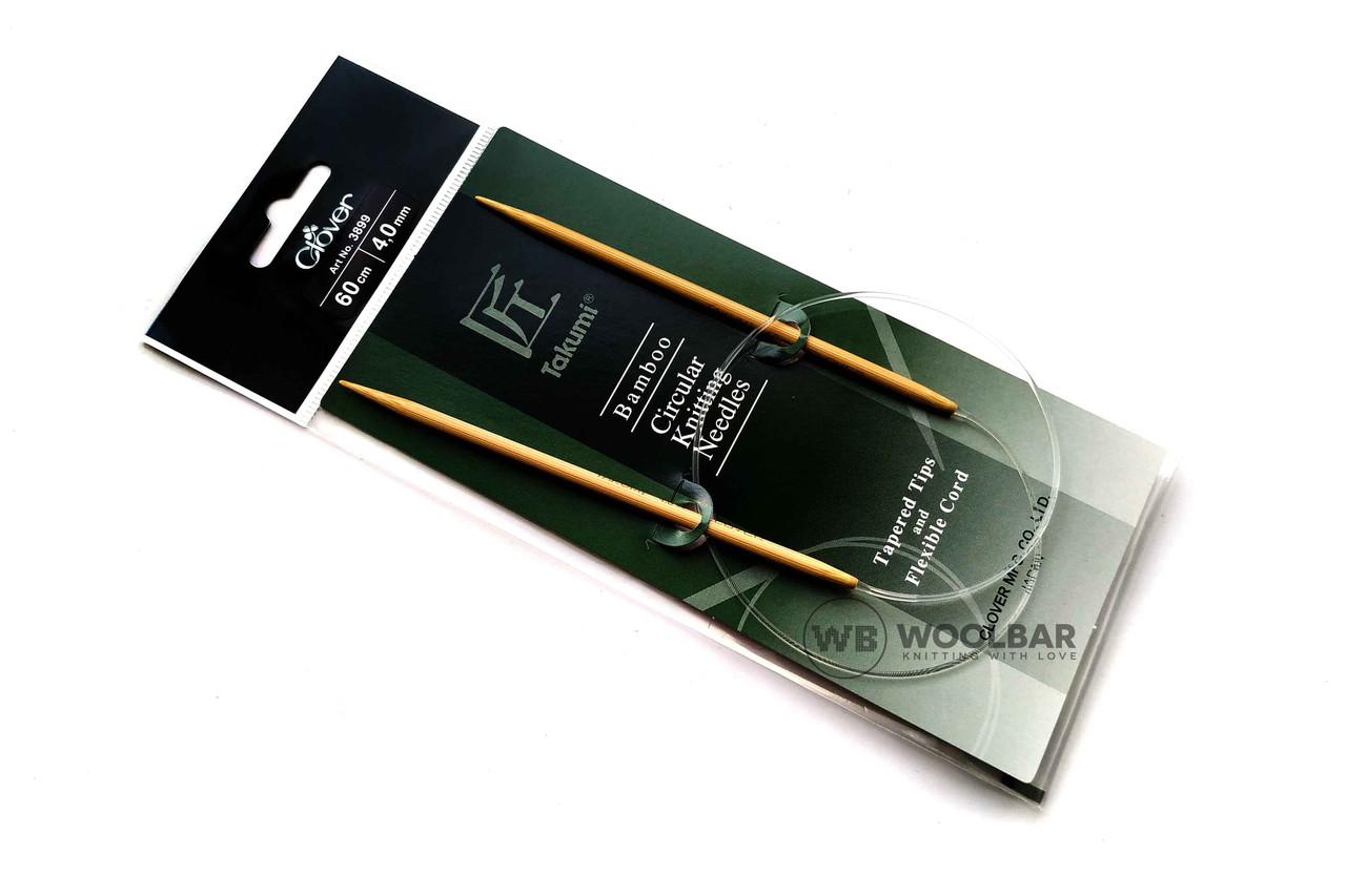 Clover - Takumi кругові спиці з подовженим кін. бамбук, 60 см, 4 мм