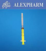 Шприц одноразовый 2мл 3-х компонентный, 23G 0,6*30мм, Luer, стерильный ALEXPHARM (уп/150 шт, ящ/3600)