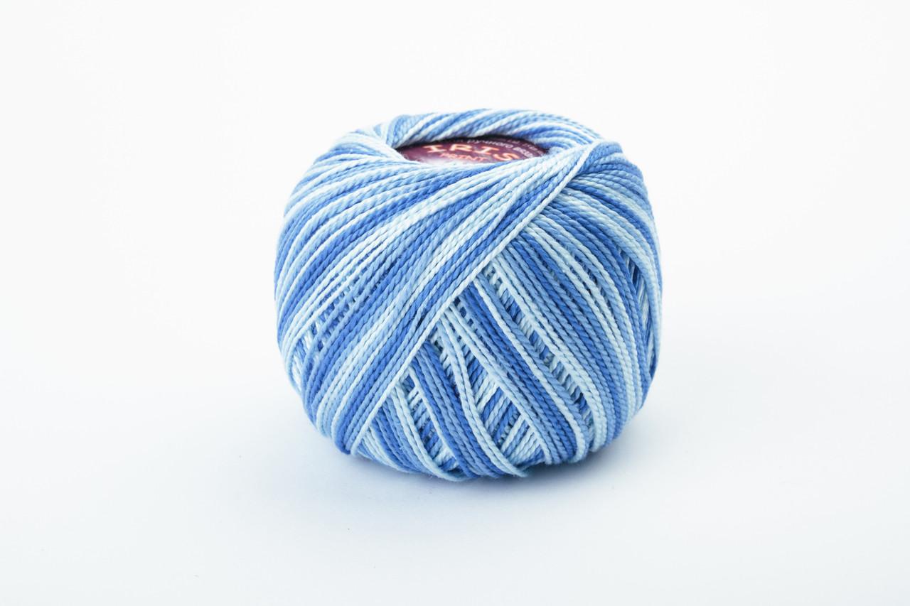 Пряжа Vita cotton IRIS print 2204 синий меланж