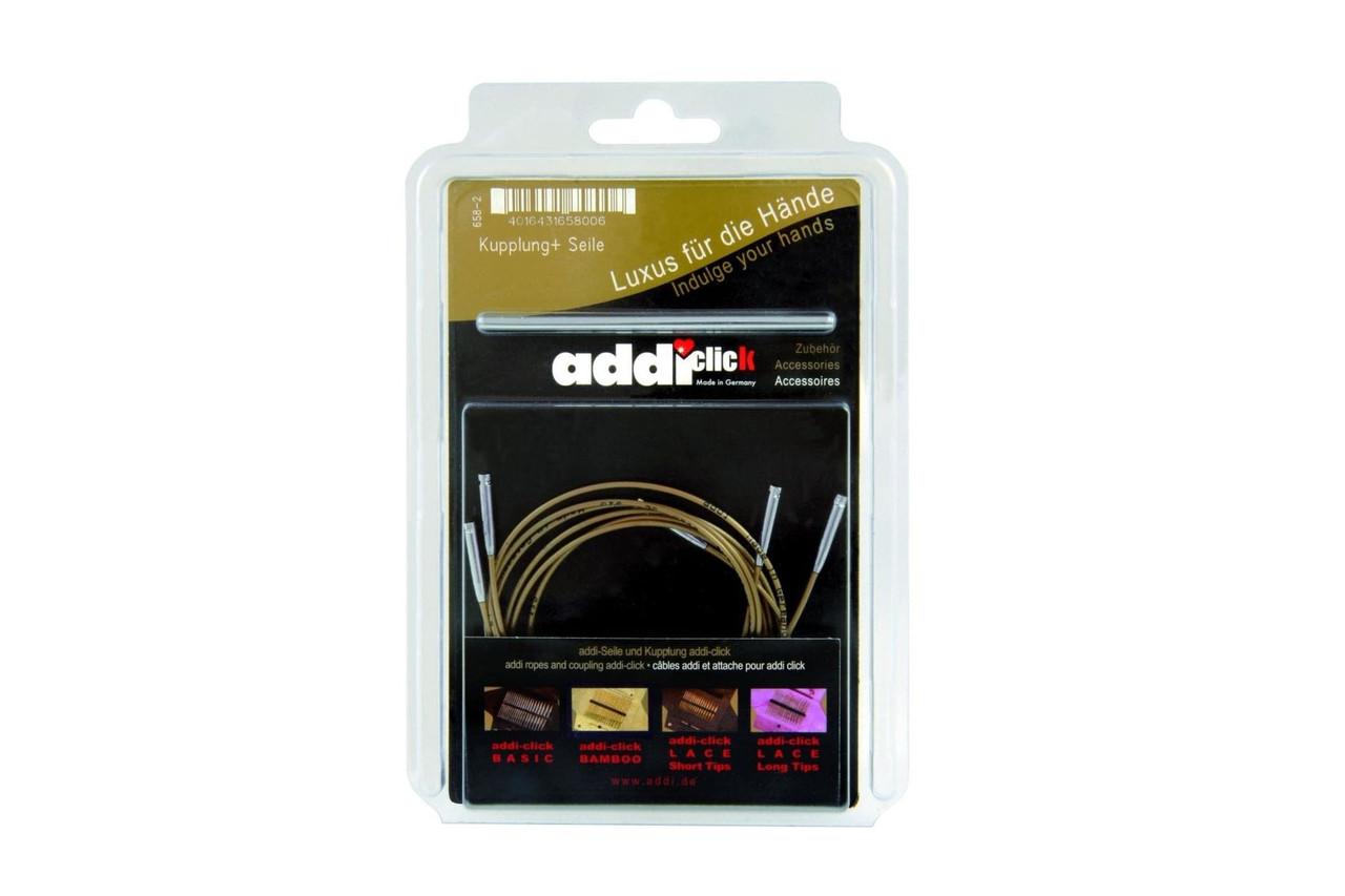 Addi - Набор сменных тросов, 3 шт (60, 80, 100 см) + коннектор