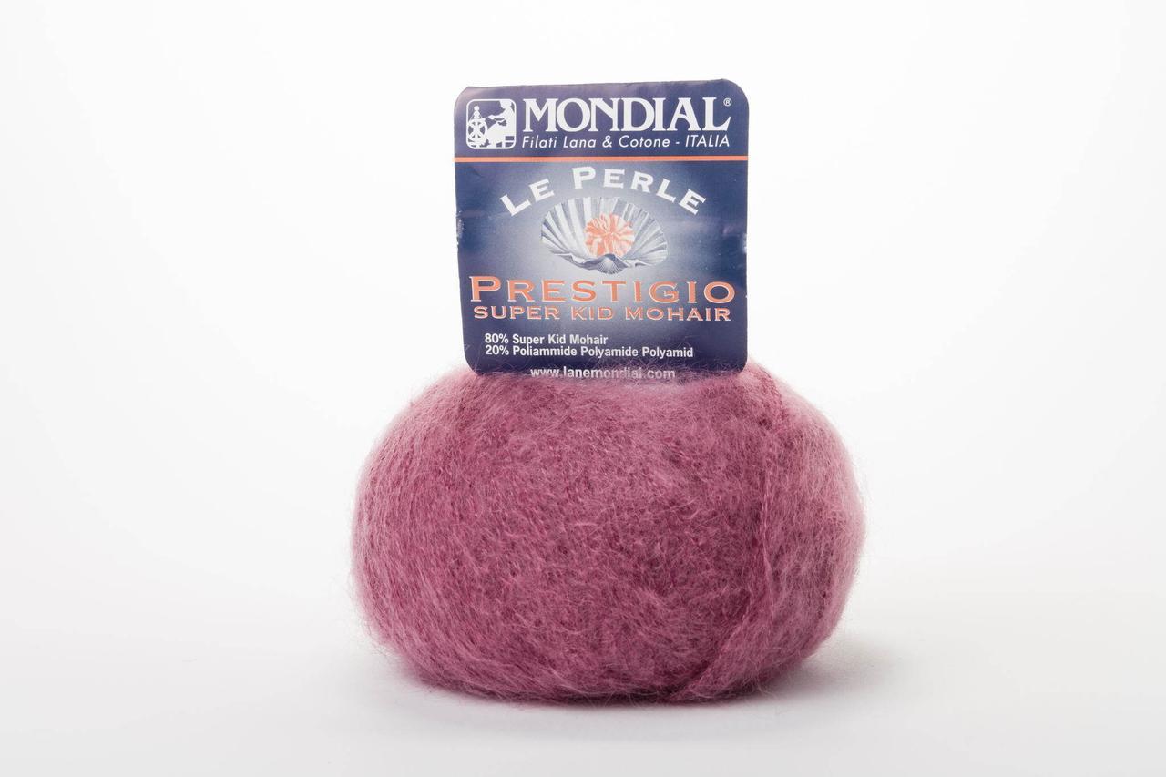 Пряжа Mondial Le Perle Prestigio 0146 сиренево-розовый