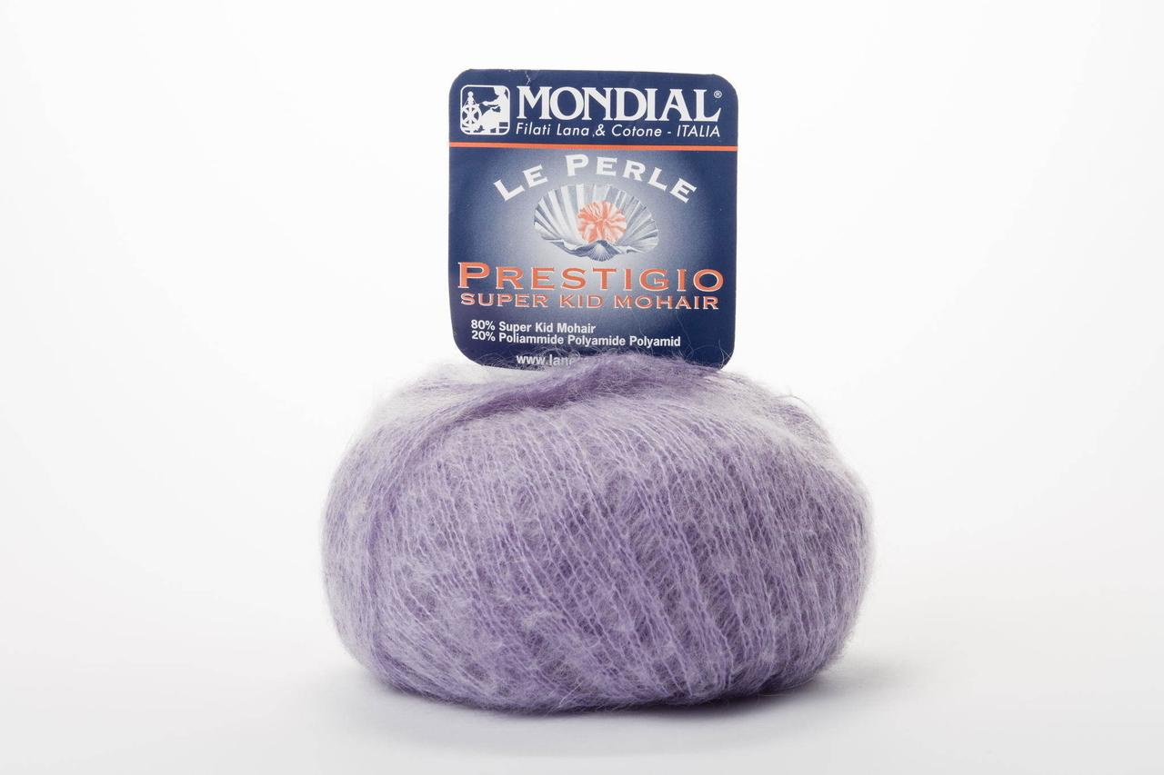Пряжа Mondial Le Perle Prestigio 0436 фиолетовый