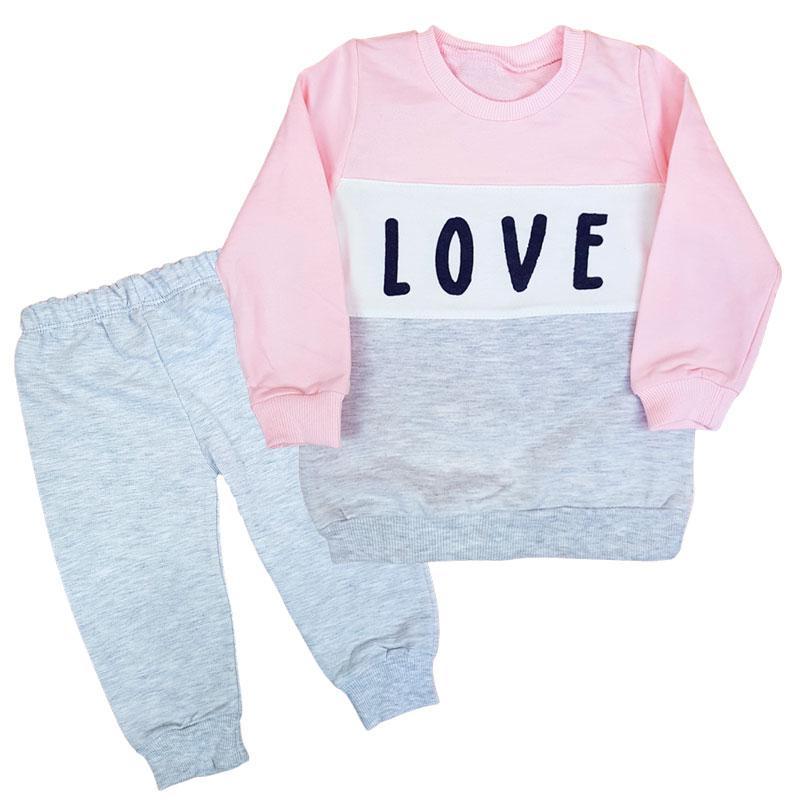 "Костюм для девочки ""Love"" 80-98 (1- 3г.) 3080, кофта+ штаны"