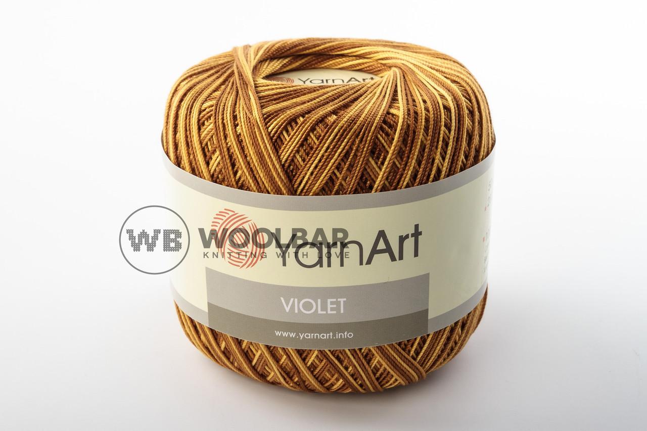 Пряжа YarnArt Violet Melange 12 коричнево-оранжевый меланж