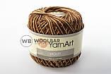 Пряжа YarnArt Violet Melange 12 коричнево-оранжевый меланж, фото 3