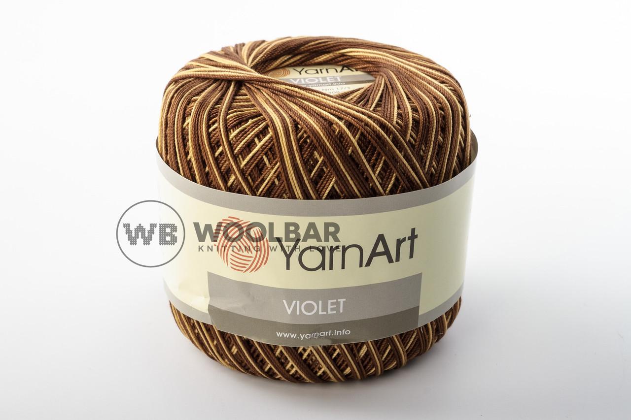 Пряжа YarnArt Violet Melange 17 коричнево-бежевый меланж