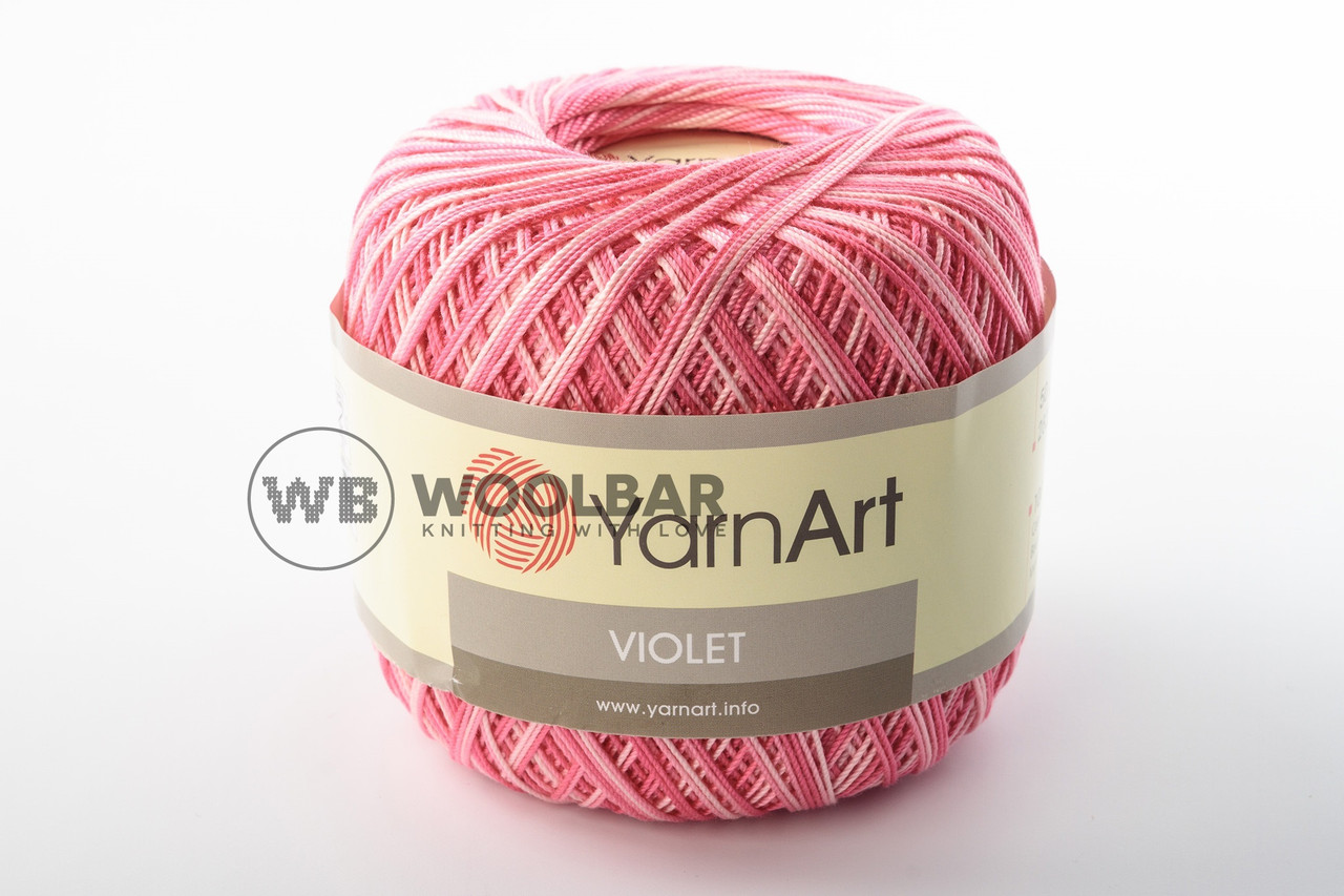 Пряжа YarnArt Violet Melange 0377 ярко-розовый меланж