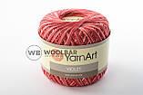 Пряжа YarnArt Violet Melange 0377 ярко-розовый меланж, фото 6