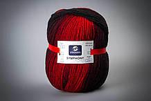 Пряжа шерстяная Vivchari Premium Symphony, Color No.03 черно-красный меланж