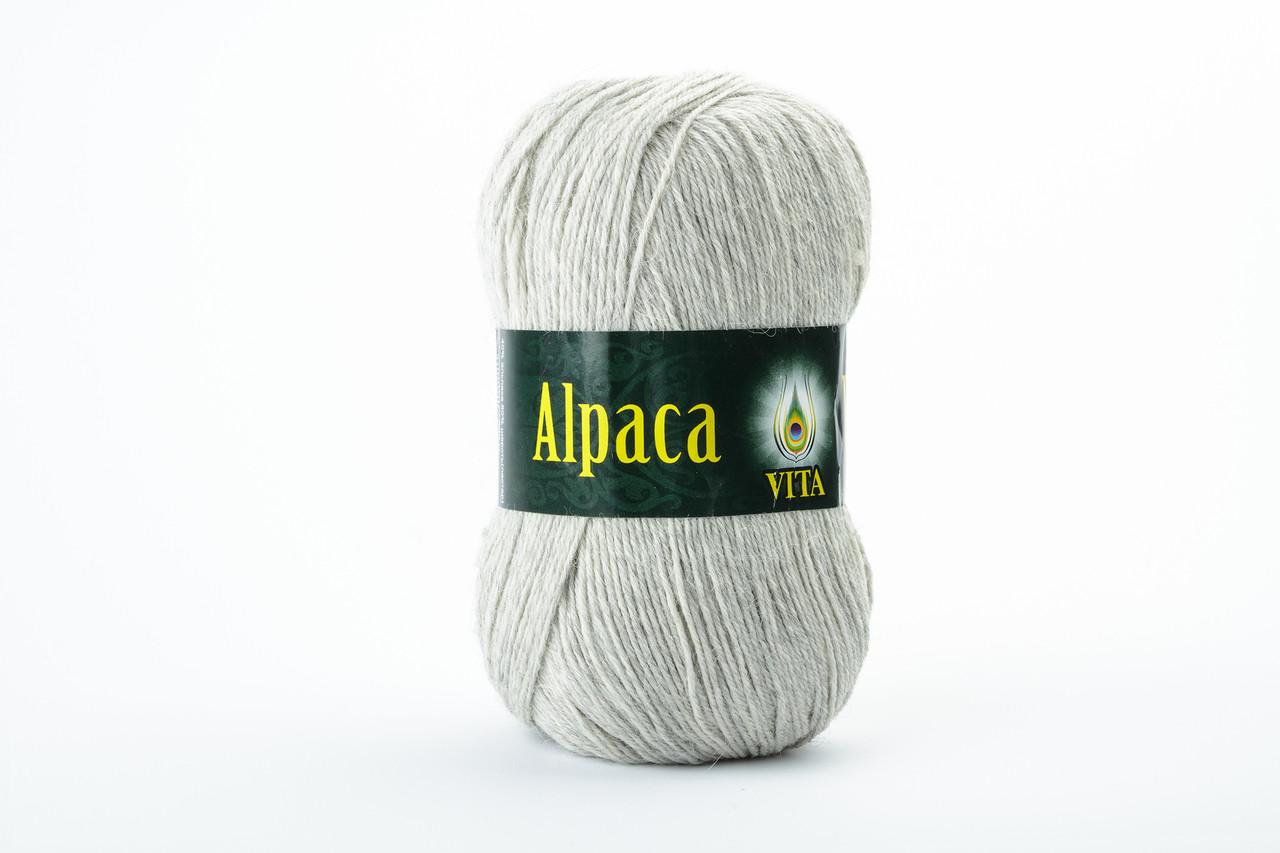 Пряжа Vita Alpaca wool 2967 светло-серый натуральный