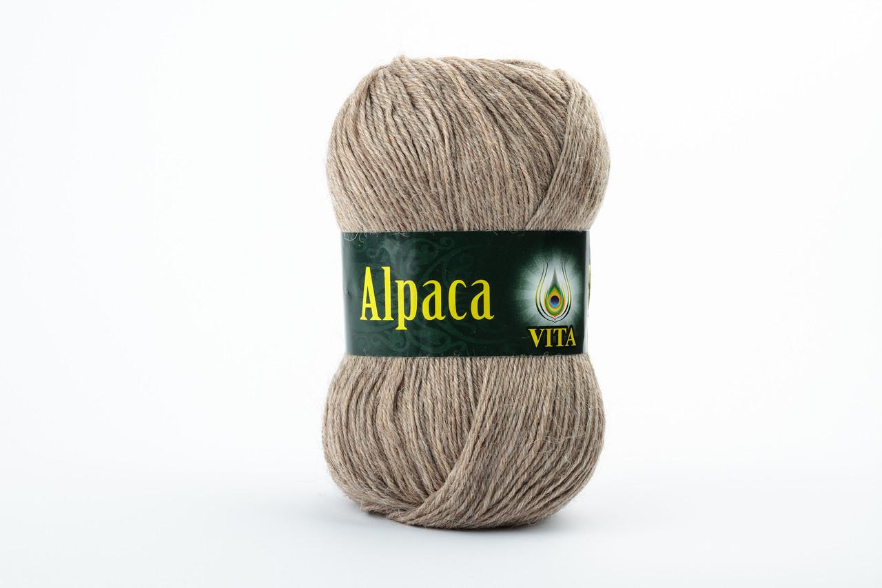 Пряжа Vita Alpaca wool 2977 темный беж натуральный