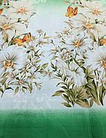 Ткань Бязь Gold Лилия на зелёном  220 см, фото 1